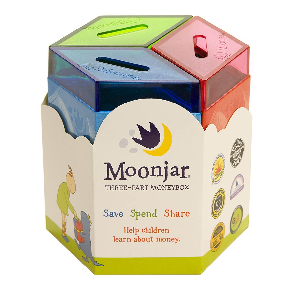 Hộp tiền Moonjar: Save, Spend, Share